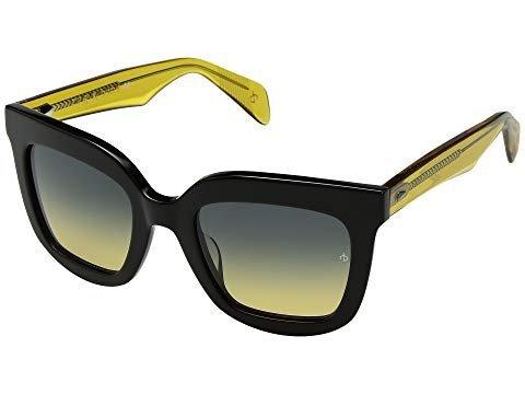 ラグ&ボーン rag & bone Sunglass Black/Yellow/Green/Y RNB1002/S [並行輸入品] One Size  B07FZRRJ31
