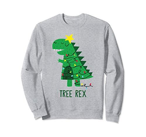 Tree Rex Christmas Sweatshirt T Rex Dinosaur Christmas Gift