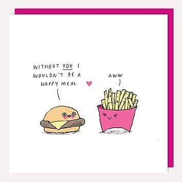 Happy Meal Jahrestag Valentinstag Hochzeitstag Lustig Witz