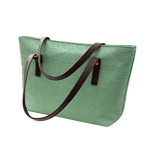 Naphahy, Sac pour femme à porter à l'épaule rose rouge 41 * 28 * 13cm Green