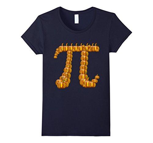 Womens Funny Pi Pumpkin Pie Halloween Shirt Thanksgiving Large (Mathlete Halloween Costume)