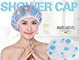 Shower Cap - 3pcs Pastoral Waterproof Plastic Lace Elastic Band...