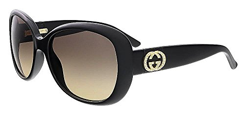 Gucci Sunglasses - 3644 N / Frame: Shiny Black Lens: Brown - 135 Sunglasses Gucci
