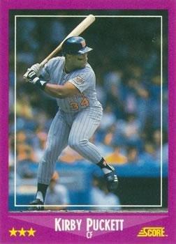 1988 Score 24 Kirby Puckett Minnesota Twins Baseball Card At