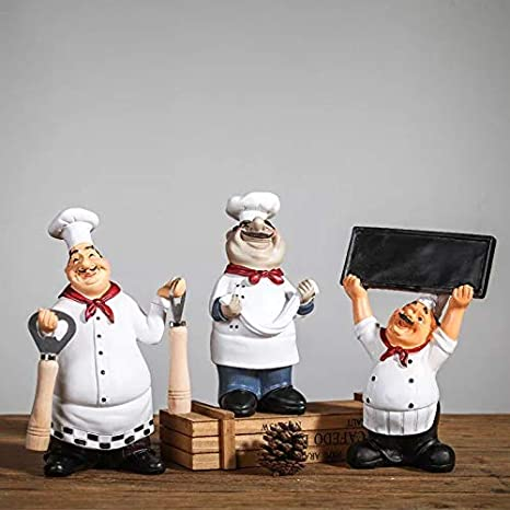 Astra Gourmet Italian Chef Figurines Kitchen Decor with Beer//Resin Decorative Ornaments//Kitchen Decor//Cook Statue//Countertop Table Kitchen Restaurant Shop Decoration