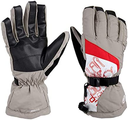 AMAZACER 冬のスキー手袋防水絶縁手袋メンズ・レディース・雪寒冷