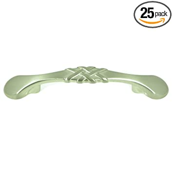 stone mill hardware cp1495sn25p weave cabinet pull 25pack