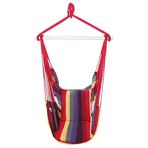 Cheap OnCloud Hanging Hammock Chair Porch Swing (Rainbow)