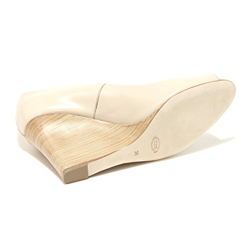 55711 spuntato Shoes Donna Scarpa Beige Tod's Decollete Women RD Zeppa FTwTd6q