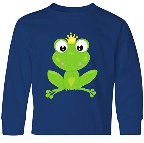 - inktastic - Frog Prince, Youth Long Sleeve T-Shirt Youth Small Royal Bue 35a7e