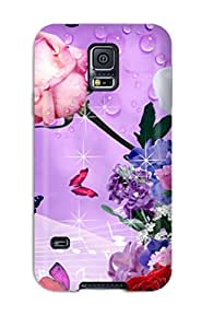 Excellent Galaxy S5 Case Tpu Cover Back Skin Protector Flower