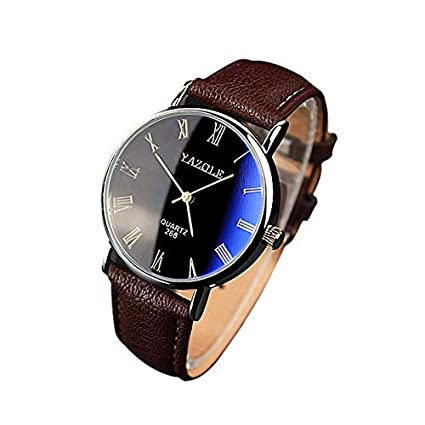 Saihui_Watch Reloj Unisex para Mujer y Hombre, Correa de Piel sintética Negra analógica de Cuarzo