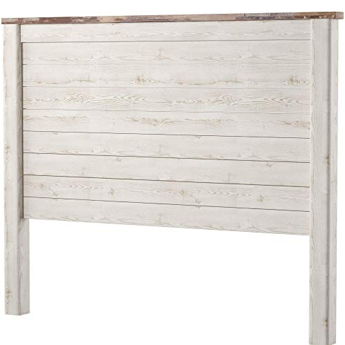 Contemporary Panel - Ashley Furniture Signature Design - Willowton Full Panel Headboard - Contemporary Style - Component Piece - Queen Size - White