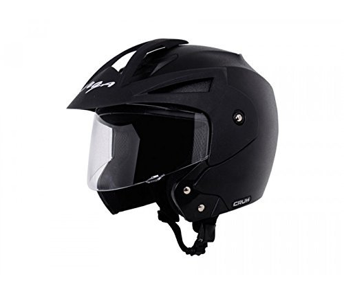Black Color Vega Crux Half Face Helmet Under 900 in India