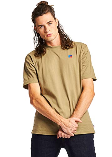 - Russell Athletic Heritage Men's Baseliner Heavyweight Cotton T-Shirt, Dry Grass XXL