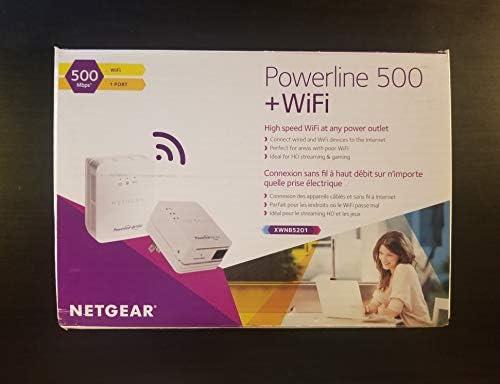 XWNB5201 NETGEAR Powerline 500 N300 WiFi and 1 Port Starter Kit ...