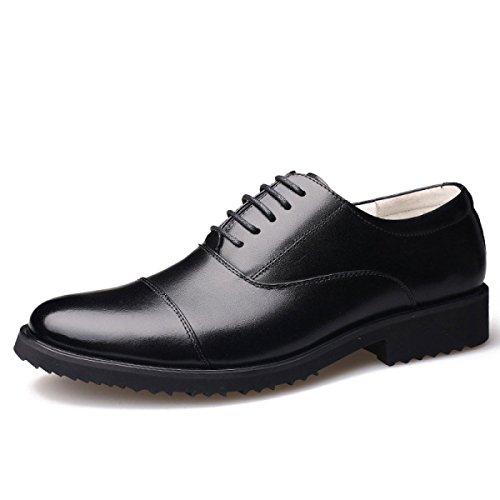 LEDLFIE Herrenschuhe Officer Shoes Herren Runde Lace Dress Freizeitschuhe Black