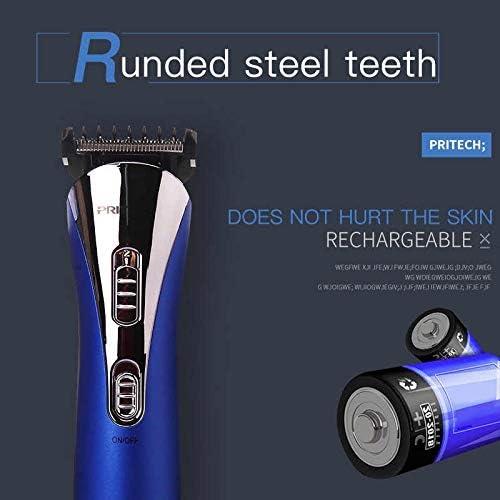 Pritech - Cortapelos eléctrico recargable para cabello, barba y ...