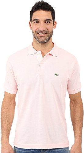Lacoste Men's Short Sleeve Classic Polo Shirt, Flamingo Pink, Large