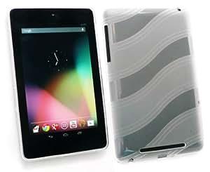 Emartbuy Asus Google Nexus ® 7 (Tablet De 7 Pulgadas) Rizo Patrón Gel Piel Cubierta Transparente + Protector De Pantalla