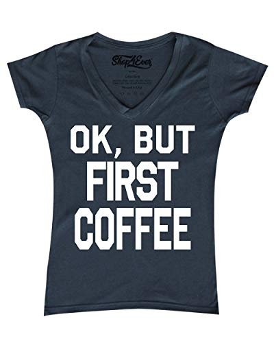 rst Coffee Women's V-Neck T-Shirt Funny Sayings Shirts X-Large Charcoal 0 ()
