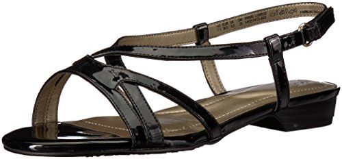 Soft Style Shoes - Soft Style by Hush Puppies Women's Maisy Sandal, Black Patent, 11.0 W US