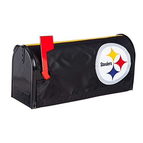 Ashley Gifts Customizable Embroidered Applique Fabric NFL Mailbox Cover, Pittsburgh ()