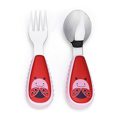Ladybug Spoon - Skip Hop Toddler Utensils, Fork and Spoon Set,Ladybug