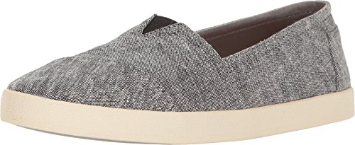Toms Women's Avalon Black Slub Chambray Slip On (11) - Toms Shoes Size 11