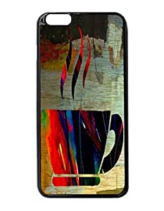 Coffee Pattern Hard Durable Cover Case for Apple iPhone 6 Plus 5.5-Inches