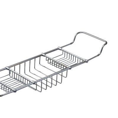 Valsan Essentials Solid Brass Adjustable Bathtub Rack - Polished Chrome