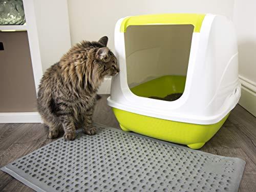 Purr-Fect Paws Cat Litter Mat, Medium, Gray
