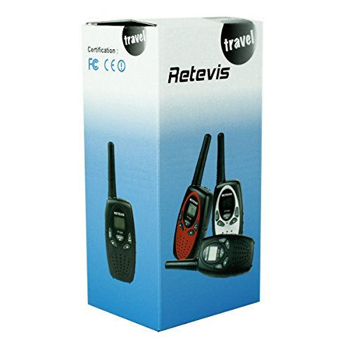 Retevis RT628 VOX UHF Portable 22 Channel FRS/GMRS Kids Walkie Talkies, 1 Pair, Black