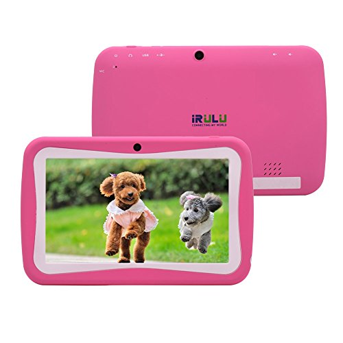iRulu 7 inch Android Tablet PC for Kids, Android 4.2 Jelly Bean OS, Dual Core, RK3026 Cortex A8 CPU,Mali 400MP GPU Dual Cameras, 5 Point Capacitive Touch Screen, 8 GB Storage (PINK)