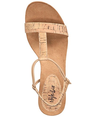 Style & Co. Womens Mulan Open Toe Casual Platform Sandals, Cork, Size 7.5