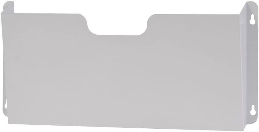 Buddy Products Legal Size Steel Wall Pocket, 2.5 x 8.25 x 17.25 Inches, Platinum (5202-32)