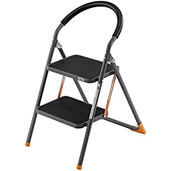 VonHaus 2 Step Stool Ladder Folding Portable Steel Stepladders with 330lbs Capacity Hand-grip Anti  sc 1 st  Amazon.com : jml folding plastic step stool - islam-shia.org