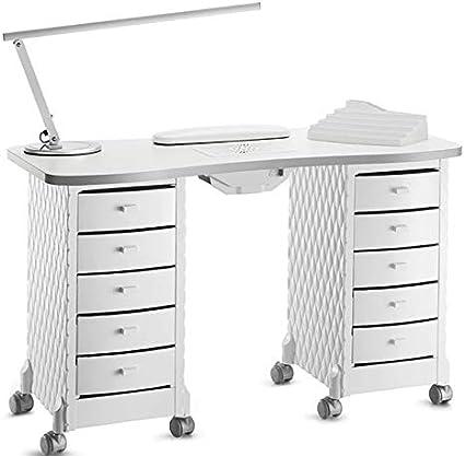 Mesa de manicura profesional completa con aspirador de polvo y accesorios Artecco.: Amazon.es: Belleza