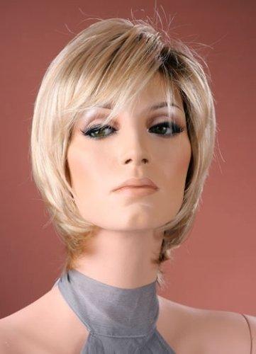 Peluca corta de alta calidad, cuello de peluca con rubio dorado recto