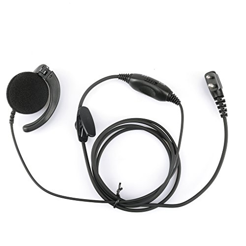 - Loria A8 for Motorola PMLN4443AB Mag One Ear Receiver with In-Line Microphone and PTT w/Vox Ear Hook Earpiece Mic