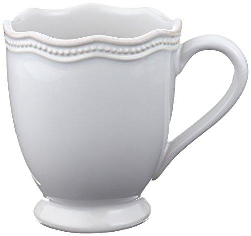 Lenox French Perle Bead Mug, 12-Ounce, White