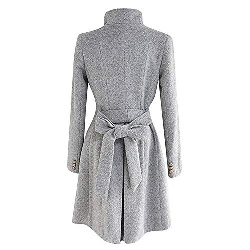Jacket Femme Laine Blousons Slim Duffle Trench Revers Manteau Gris Élégant En Classique Col Coat Sanfashion Synthétique 1zwCAFqxn