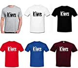 The Kinks Rock n roll Music T-Shirt Unisex Adults & Kids 3-4 Years to 5XL- 6 Colours (XL, Burgundy)
