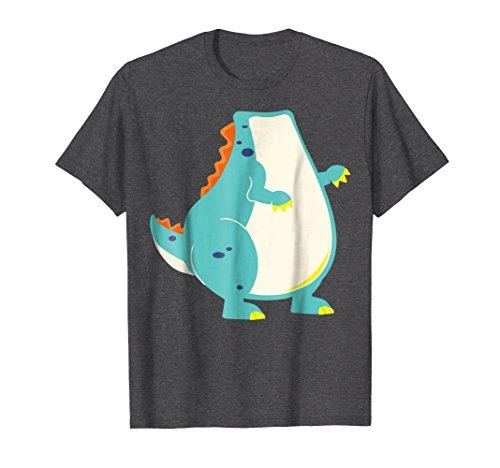 Mens Funny Dinosaur Costume Shirt Halloween Easy DIY Outfit Gift XL Dark Heather -