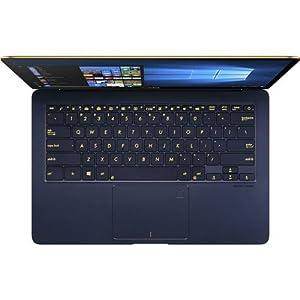 ASUS UX490UA-XS74-BL 14-Inch Zenbook 3 Deluxe Notebook Core i7, 16GB RAM, 512GB SSD, Fingerprint Sensor, Windows Pro, Royal Blue