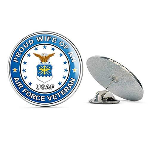 TG Graphics US Air Force Veteran Proud Wife Steel Metal 0.75