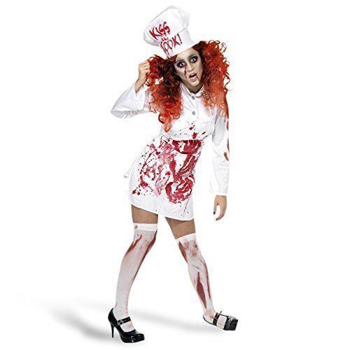 2 Year Olds Halloween Costumes Uk (Ladies Dead Corpse Zombie Bloody Chef Cook Halloween Fancy Dress Costume Outfit UK 8-12 by Fancy Me)