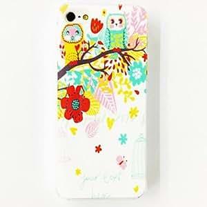 GJYOwl Flower Love Heart Trees Pattern TPU Soft Case for iPhone 5/5S