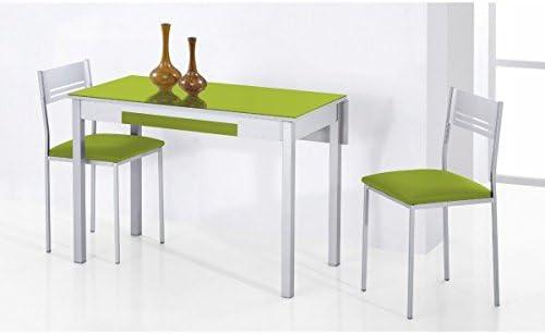 SHIITO Mesa de Cocina Extensible 90x50 cm con un ala caída y Tapa ...