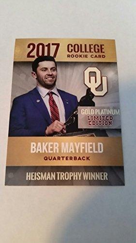2017 Baker Mayfield Gold Platinum Heisman Trophy Card Oklahoma Sooners